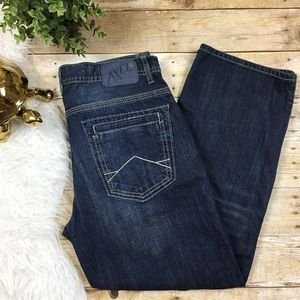 AXLE Treadwell Whiskered Relaxed Straight Leg Jean
